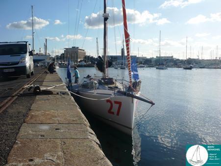 Le voilier de Marc à l'eau ce Lundi 25 Octobre 2010.