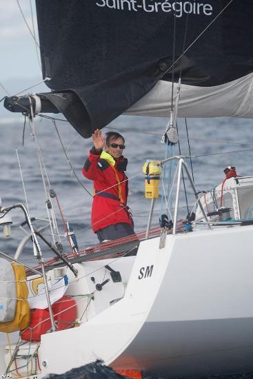 C'est fait ! Marc vient d'en terminer avec sa traversée. Il termine 35e de la Route du Rhum - la Banque postale 2010.