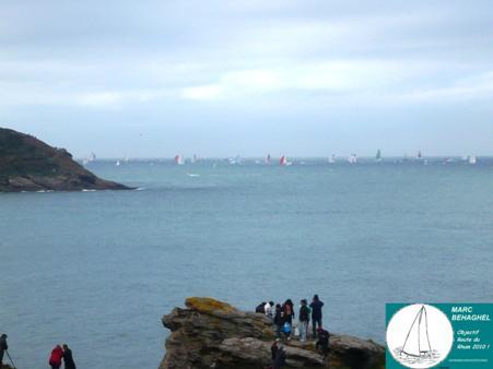 Dernière apparition des voiliers de cette Route du Rhum 2010.