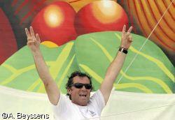 Lionel Lemonchois (Prince de Bretagne), vainqueur de la Route de Rhum - la Banque postale 2010 en multi50.
