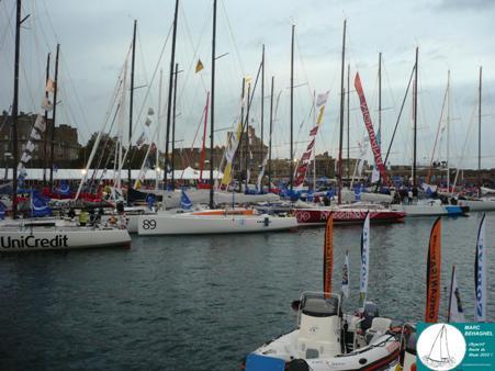 La flotte des 40 pieds dans le bassin Vauban à un jour du départ.