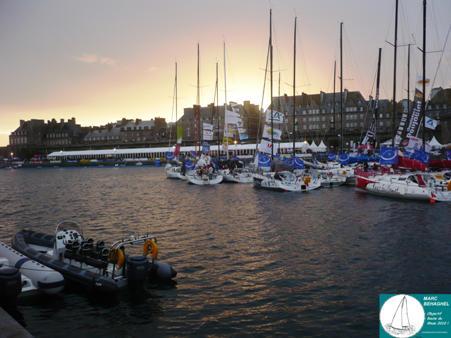 Dernier coucher de Soleil sur St-Malo avant le grand départ !