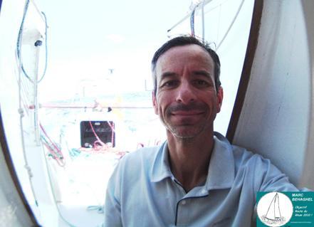 19 Novembre 2010 à bord de Ville de Saint-Grégoire. Marc peut avoir le sourire; il est en train de passer 35e au classement et la Guadeloupe n'est plus qu'à 5 jours de course.
