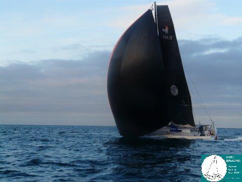 Marc, sous spi, se lance dans la traversée de l'Atlantique !