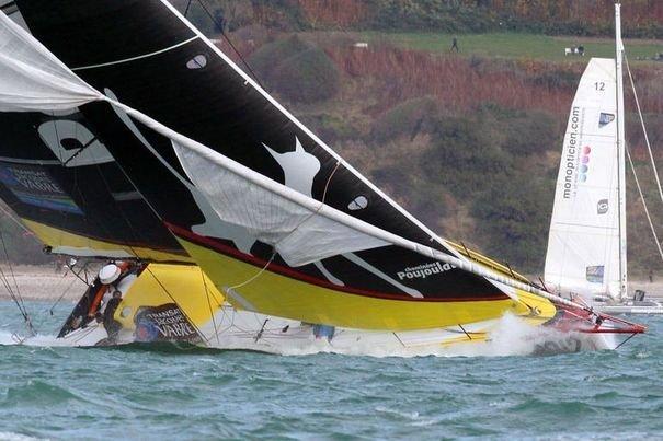 Cheminées Poujoulat, le nouveau 60 pieds de Bernard Stamm, avec lequel le skipper suisse veut participer au Vendée Globe 2012.