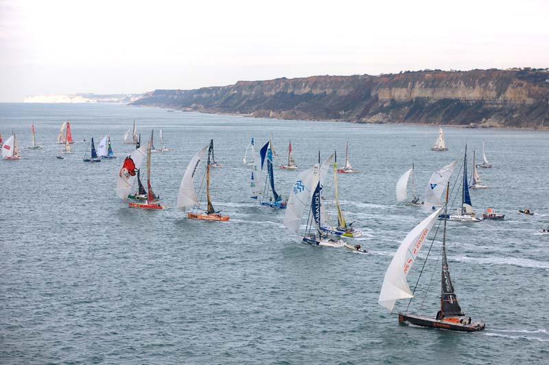 Départ de la Transat Jacques Vabre, 2 Novembre 2011, au Havre.