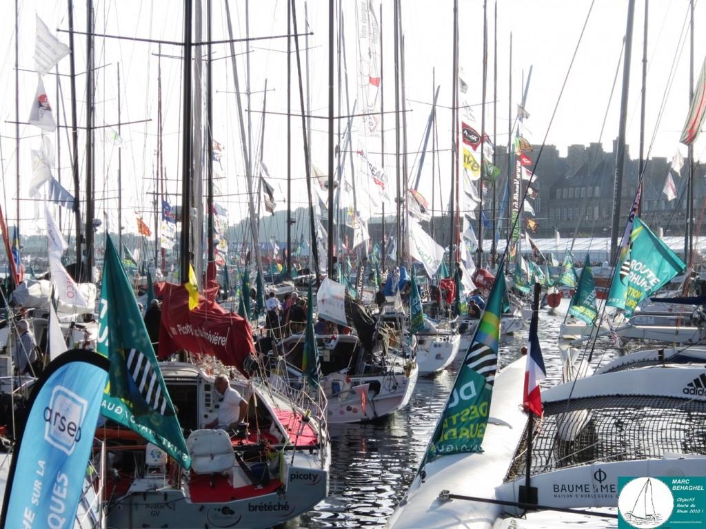 La flotte des Class40 dans le port de Saint-Malo, Route du Rhum - Destination Guadeloupe 2014