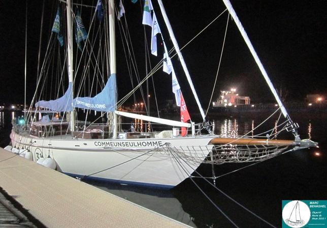 Le bateau d'Eric Bellion  (Comme un seul homme), catégorie Rhum Mono.